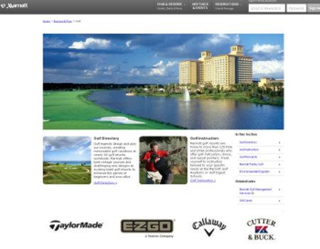 Marriott Golf website