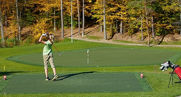 All year round play at Modern Golf, Austria's first all-weather golf course created by Huxley Golf