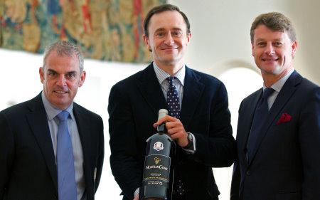 (from left) Paul McGinley, M. Julien de Beaumarchais and Hugues Lechanoine