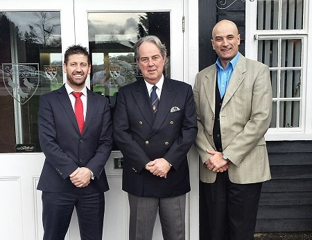 Tony Healy (Pin High Golf Group), Paul Blake (Canterbury GC) and Roger Hyder (Pin High Golf Group)