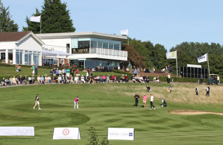 18th at Stoke by Nayland during last year's event (courtesy of Adrian Milledge)