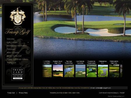 Trump Golf website