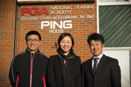 (from left) Zaixing Zhang, Zi Li and Se Xiao