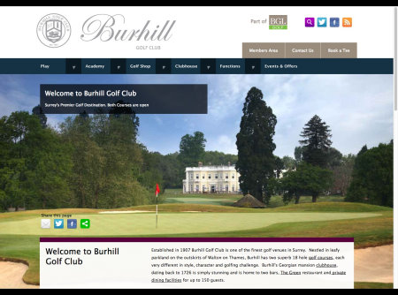 The new responsive website for BGL Golf flagship venue, Burhill Golf Club