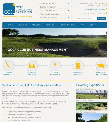 GCA Website screengrab