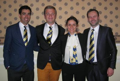 New Associate Members – l to r, Matt Osborne, Michael Terech, Virginia Costa, Dave Sampson