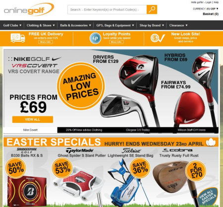 Online Golf website