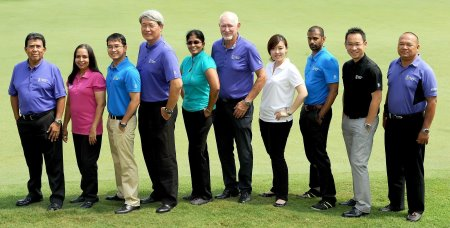 Staff and Officials of The Asian Tour posing in their latest abacus® apparel