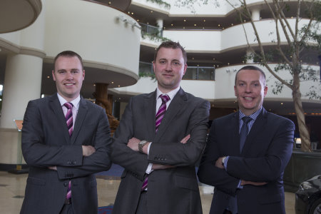 Operations Director Matthew Lewis (centre) with Rooms Division Director Kevin Green (left) and Director of Golf, Spa and Leisure Will Hewitt