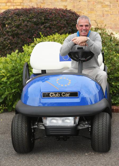 Paul McGinley, European Ryder Cup Team Captain, with his Captain's Club Car