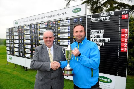 Foremost CEO Paul Hedges with 2014 Foremost Champion Kevin Crossland