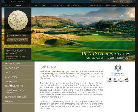 Gleneagles website