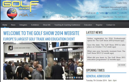 Golf Show website screenshot