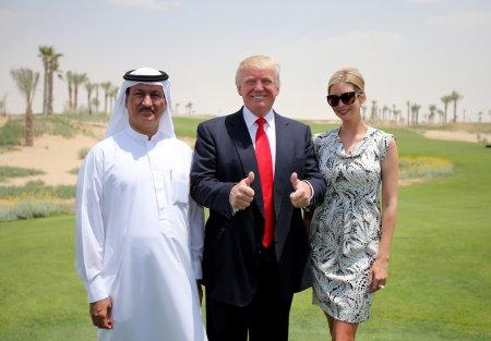 Hussain Sajwani, Donald Trump and Ivanka Trump at Akoya by DAMAC