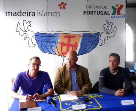 (from left) Jonathan Fletcher, Palheiro Estate - Jo Maes , GolfSwitch - OpenTee , Ricardo Abreu Santo da Serra