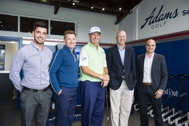 Rory Whitson (Adams Europe), Stephen Gibson (Wentworth), Ernie Els, Jeff Harris (Adams), Darren Phillips (Pure Sports Marketing)