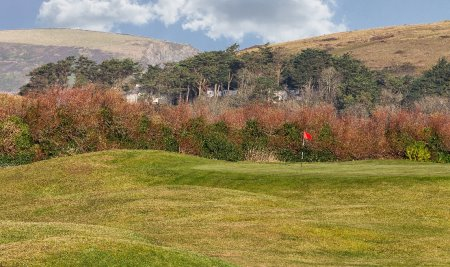 The 15th Green of the Holywell Course at St Enodoc