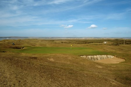 The 5th green of Royal North Devon