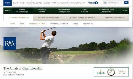 Amateur Championship website