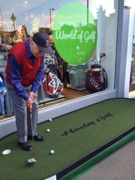 Sir Bruce Forsyth at Wonderful World of Golf in Sunningdale