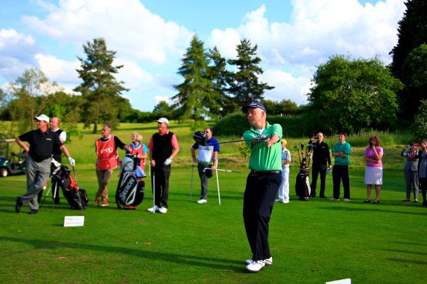 Short-armed golfer Richard Saunders attend Disabled Golf Clinic at Stoke by Nayland (Phil Inglis, Getty Images)