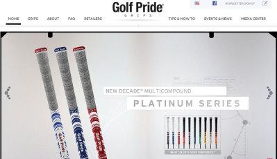 Golf Pride Grips website