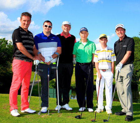 From left: Paul Wessselingh, Chris Foster, Carl Mason, Richard Saunders, Lewis Eccles and Des Smyth (image courtesy of Phil Ingles and Getty Images)