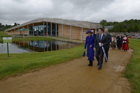 Jon Dummett with Her Royal Highness Princess Alexandra