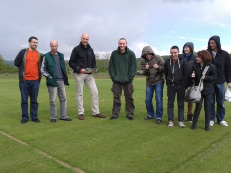 Derek Smith of DLF Trifolium with the horticulture students from Hillsborough College