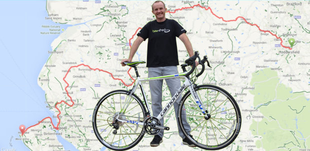 John Andrew plus bike plus map