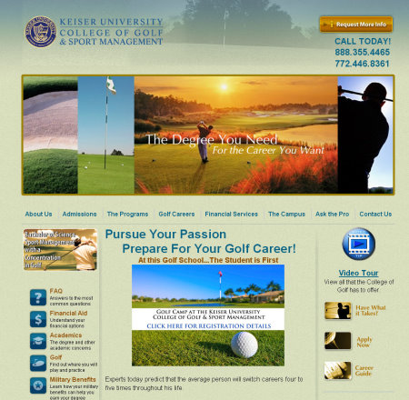 Keiser University College website