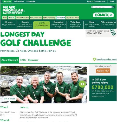 Longest Golf Challenge website
