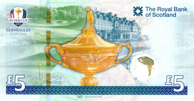 Ryder Cup Bank Note (reverse)