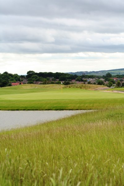 View of the 16th green Ramside Cathedral Course with Durham Cathedral in the backdrop