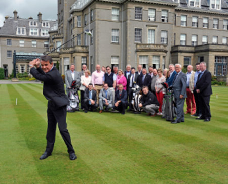 The new Golf Perthshire tourism initiative is launched at Gleneagles