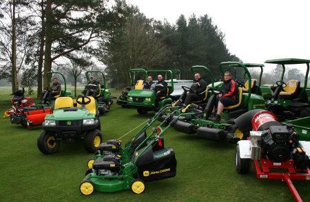 Staff and machines at Burnham Beeches Golf Club.