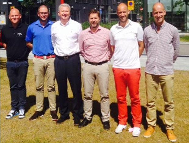 From left: Fredrik Brandt, Filip Modig, Martin Wild, Lars Aldskogius, Johan Sköld, Björn Gyllensjö