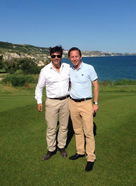 Claudio Marini (left) with  Sean Noble