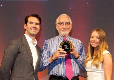 Derek Walder with award