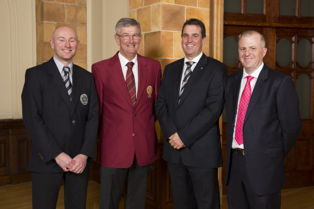 (from left) David Lilley; Neil Selwyn Smith PGA Captain; Robert Simpson; and Danny Spillane