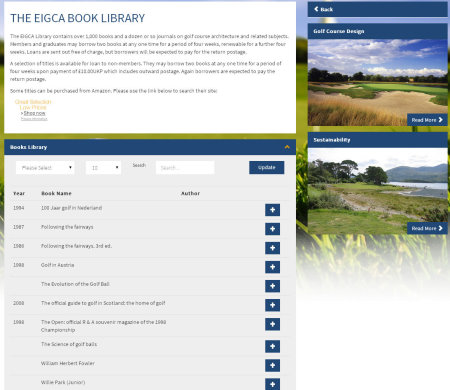 EIGCA Book Library on-line catalogue