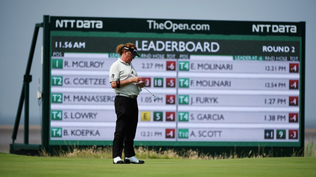 New electronic scoreboards at The Open (photo courtesy of The R&A)