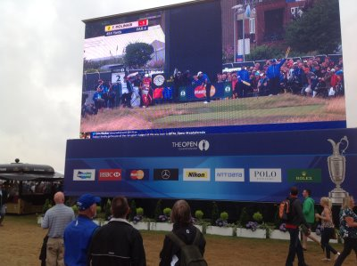 Electronic screens at The Open