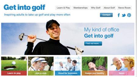 Get into Golf website