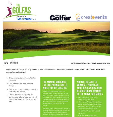 GolfAs Awards website