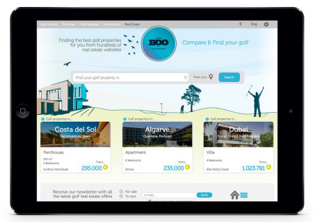 A screenshot of the GOLFBOO.com property offering