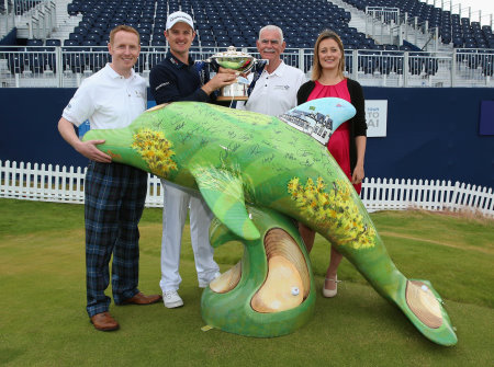 The Golfin Dolphin was skilfully painted by Royal Aberdeen Golf Club member and renowned artist Gordon E Henry