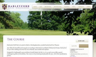 Harleyford Golf Club  website
