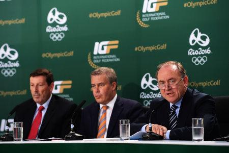 (right to left) IGF President Peter Dawson. Vice President Ty Votaw and Executive Director Antony Scanlon