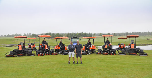 The new additions to the fleet at Longhirst Hall Golf Club